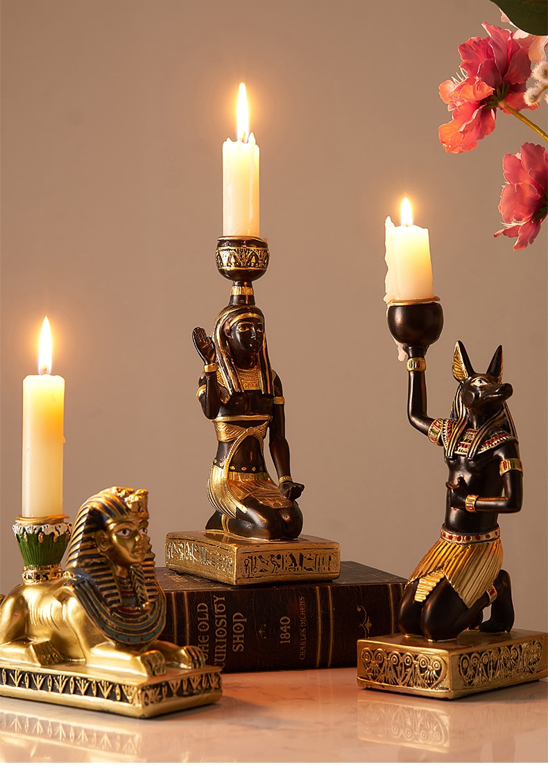 Creative Resin CandleSticks Home Decoration Classic African Style Table Candle Holder Romantic Living Room Decorative Accessorie