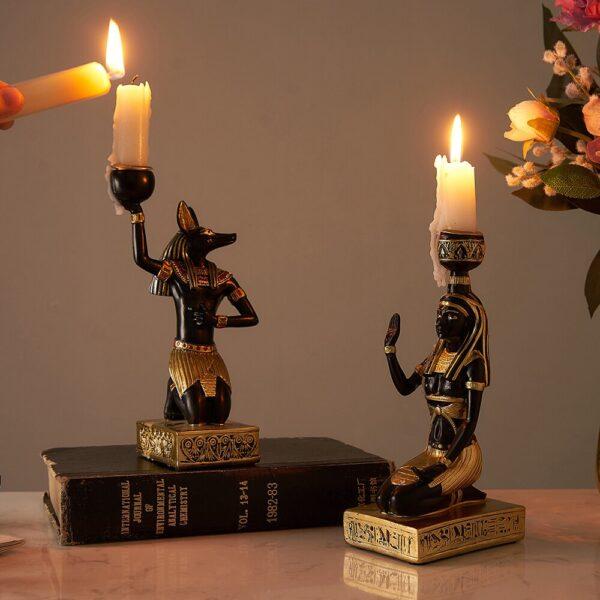 اكسسوار شمعدان الفراعنة الفاخر اكسسوارات منزلية