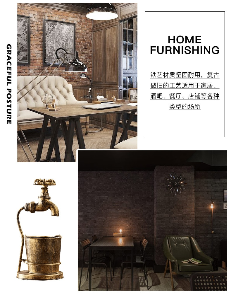 Creative Ashtray Iron Retro Metal Ashtray Home Decoration Accessories Bar Cafe Living Room Restaurant Desktop Display Craft