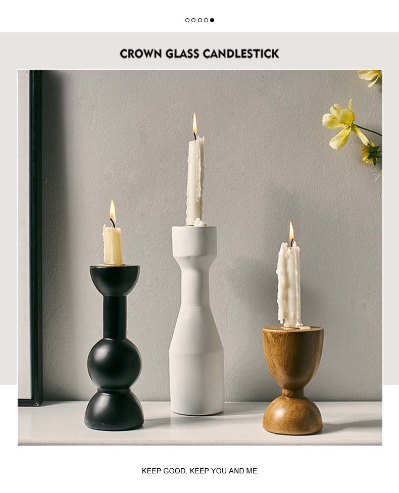 Classic Resin Candlestick Home Decoration Accessories Modern Candle Holders Living Room Decorative Nordic Wedding Table Decorate