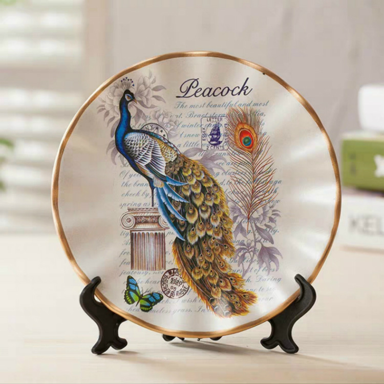 European Retro disc Ornament Home Decor Creative modern Crafts Home Decor Accessories Wedding Gift for lovers