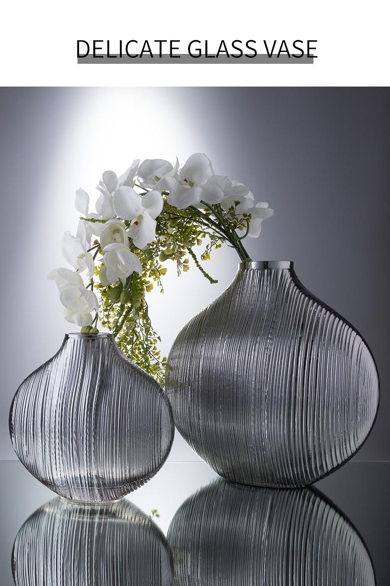 Nordic Creative Transparent glass vase Decorative ornaments Flower arrangement accessories Modern home decoration wedding vase