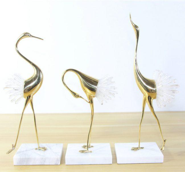 طائر الكركي الذهبي اكسسوارات منزلية