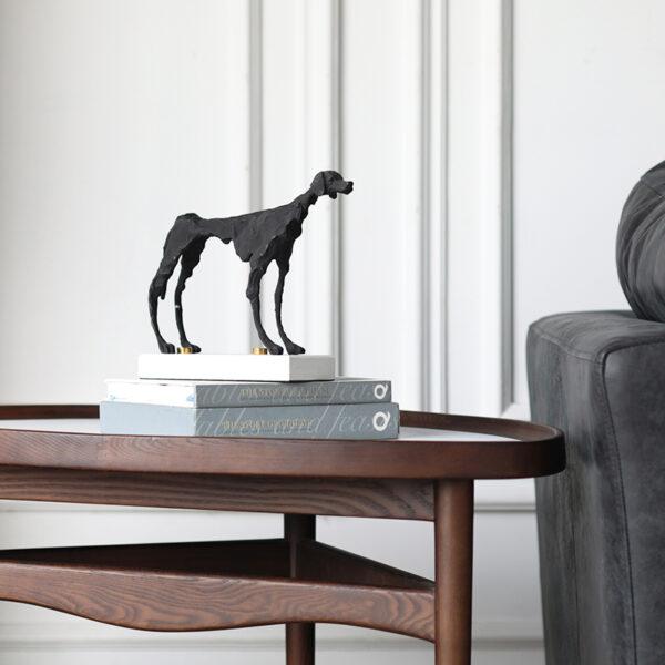اكسسوارات الكلب الحديدي الأسود اكسسوارات منزلية