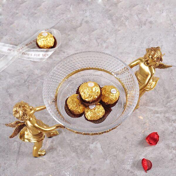 اكسسوارات طبق الملاك الذهبي اكسسوارات منزلية