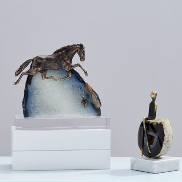 اكسسوارات خيول حجر العقيق الطبيعي اكسسوارات منزلية