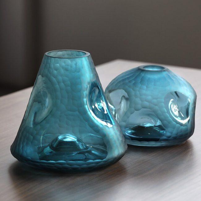 مزهرية زجاج البومبة الاخضر اكسسوارات منزلية