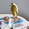 اكسسوار تمثال طائر الكيوي الذهبي اكسسوارات منزلية