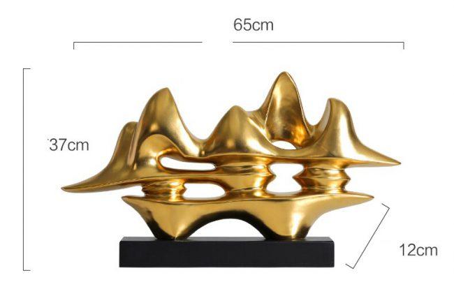 تحفة موجة الصحراء الذهبية اكسسوارات منزلية