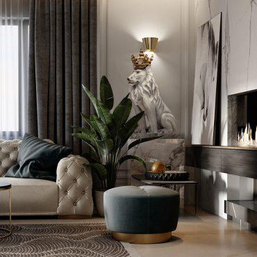 تمثال الأسد الايطالي الفاخر اكسسوارات منزلية