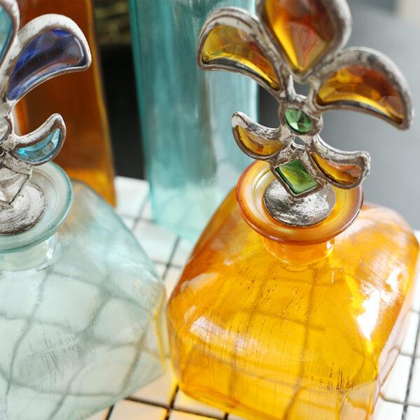 أنابيب الزجاج الملون البحري اكسسوارات منزلية