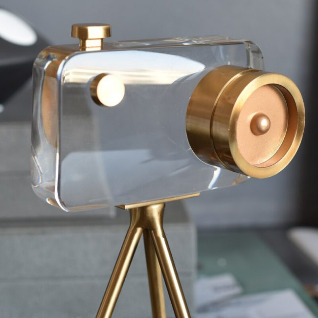 اكسسوار آلة تصوير الكريستال الراقي اكسسوارات منزلية