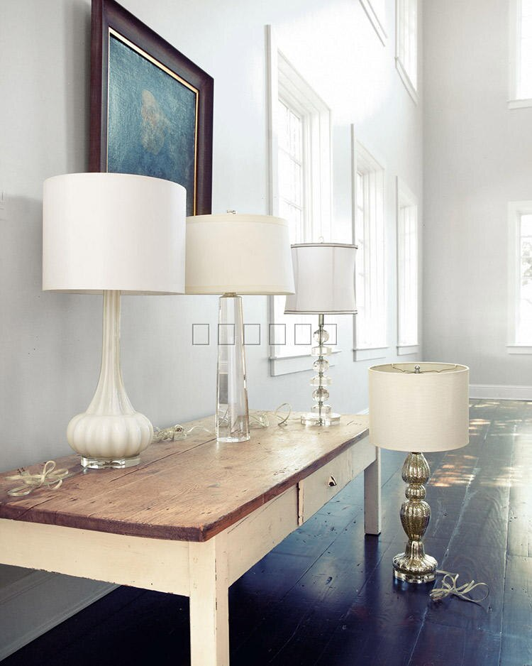 Modern Lamp Octagon Solid Crystal Bedroom Bedside Lamp European Warm Wedding Decoration White Lampshade abajur para quarto