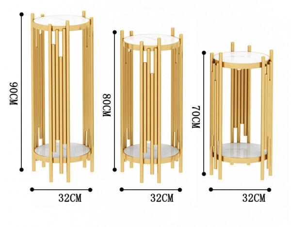 طاولة الذهب الرخامية الجانبية الفاخرة مفروشات