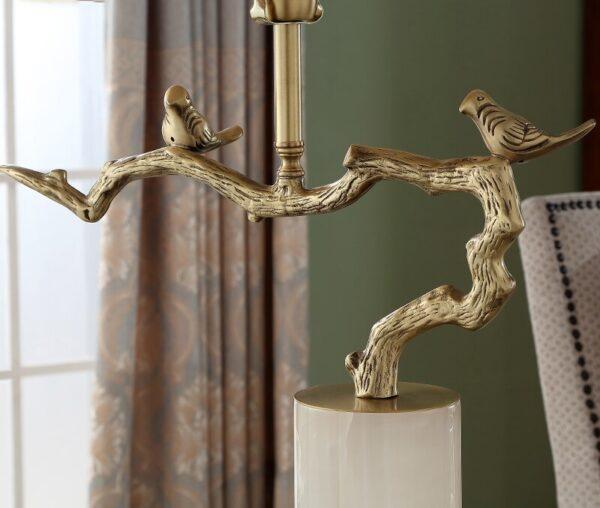 ابجورة شجرة عصافير الغابة المذهبة ثريا و نجف