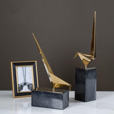 اكسسوارات طيور الذهب المجردة اكسسوارات منزلية