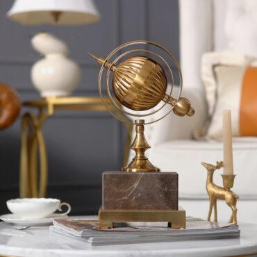 اكسسوارات الكرة الارضية الذهبية اكسسوارات منزلية