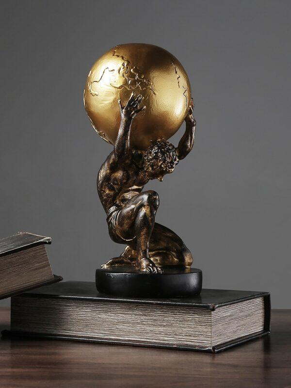 تمثال اطلس اليوناني القديم حامل الكرة الارضية اكسسوارات منزلية