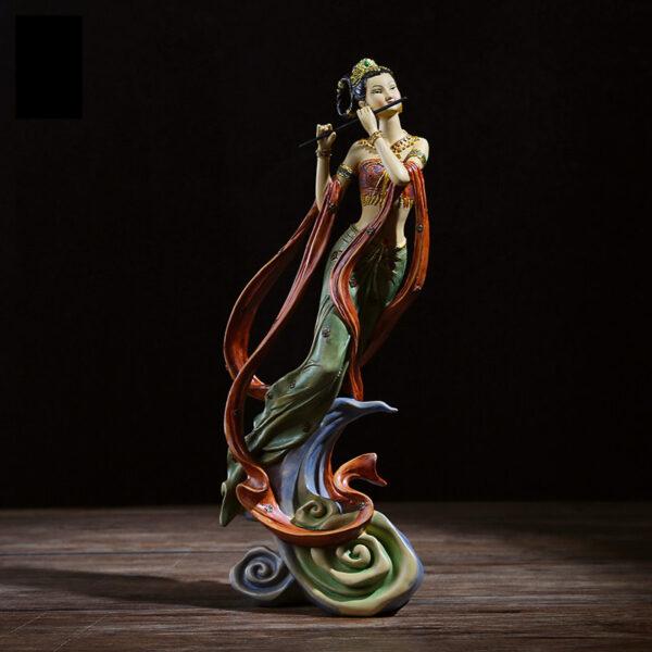 تمثال المرأة العازفة الصينية التقليدية ديكور و اكسسوارات