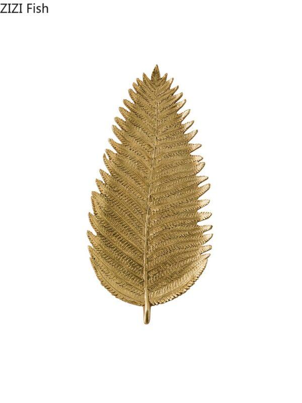 Creative Nordic modern Gold Resin leaf tray Desktop storage organization jewelry Crafts ornaments home decoration accessories اكسسوارات منزلية
