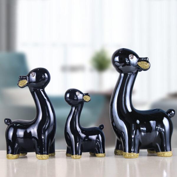 تماثيل سيراميك الحيوانات الاوروبية الفاخرة ديكور و اكسسوارات