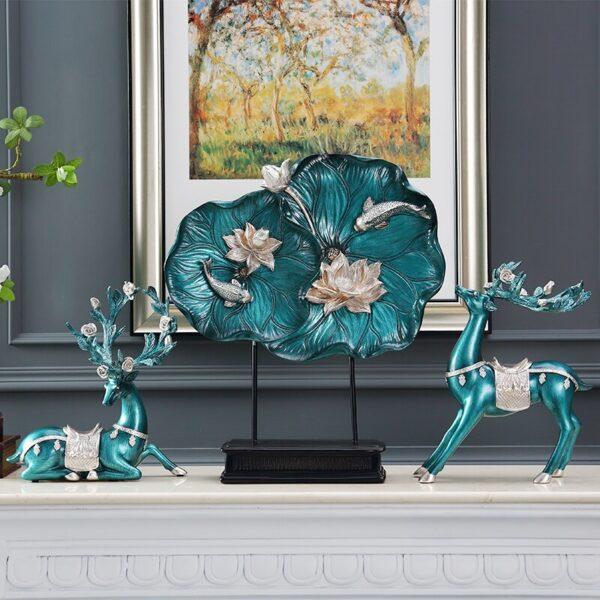 تماثيل الغزلان الاوروبية الزرقاء ديكور و اكسسوارات