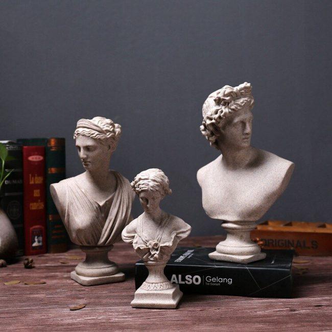 تمثال النحت الروماني للحقبة الرجعية ديكور و اكسسوارات