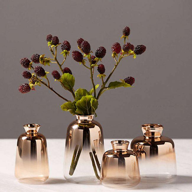 اناء الزجاج المطلي بالذهب ديكور و اكسسوارات
