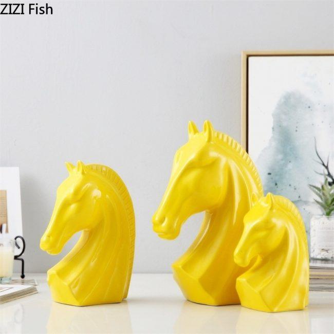 ديكور حرف الحصان الذهبي اكسسوارات اكسسوارات منزلية