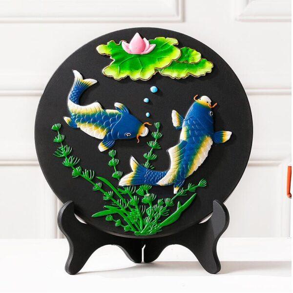 تمثال اللوحة البحرية المرسومة الصينية ديكور و اكسسوارات