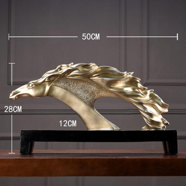 منحوتة حصان صالة الاكسسوار الفاخر اكسسوارات منزلية