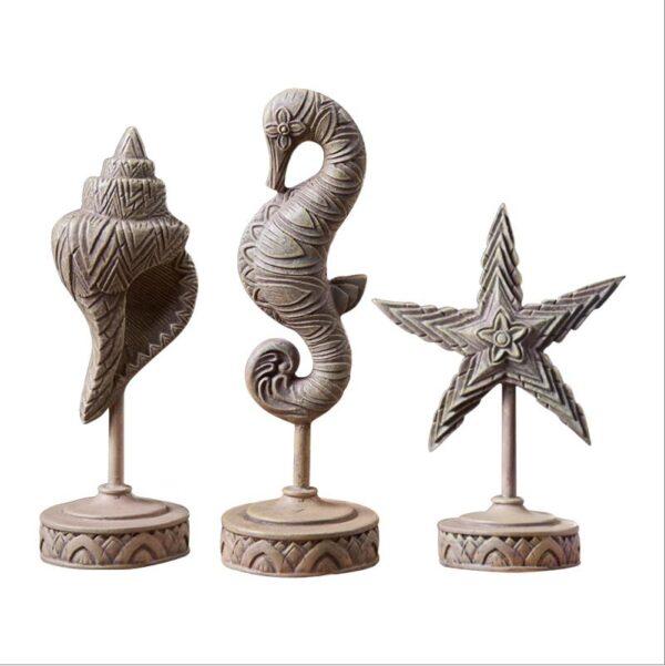 تمثال فرس البحر محارة البحر و نجم البحر ديكور و اكسسوارات