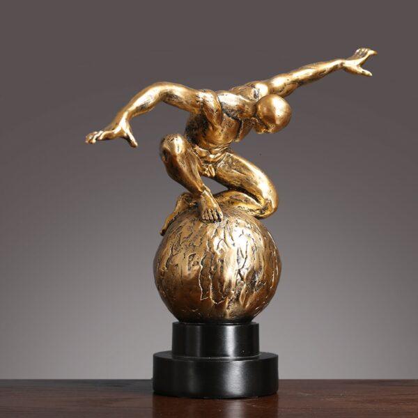 تمثال شخصية النحت الفاخر اكسسوار اكسسوارات منزلية
