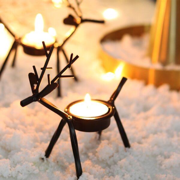 شمعدان الغزلان الرومنسي اكسسوارات منزلية