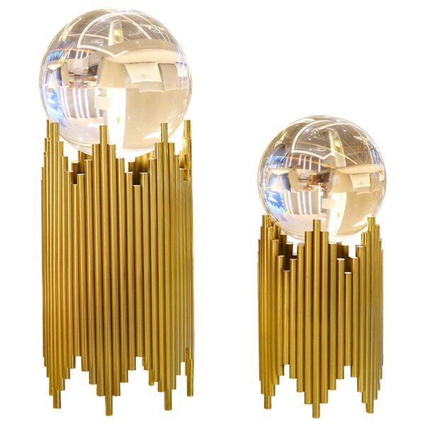 كرة الكريستال ذو القاعدة المعدنية المتلاصقة ديكور و اكسسوارات