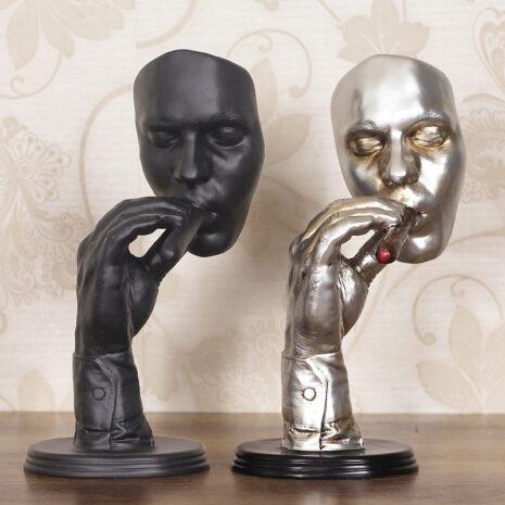 تمثال النحت التجريدي الرجل المدخن ديكور و اكسسوارات