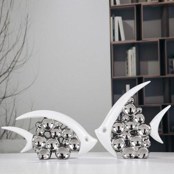 تمثال اناء السمكة المعاكس ديكور و اكسسوارات