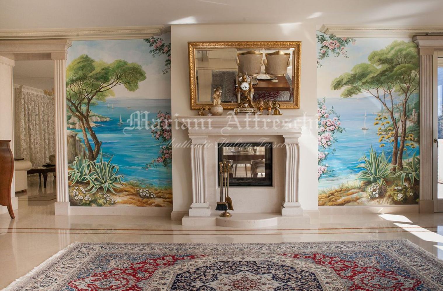 Trompe l'oeil واللوحات الجدارية الإيطالية الأصيلة
