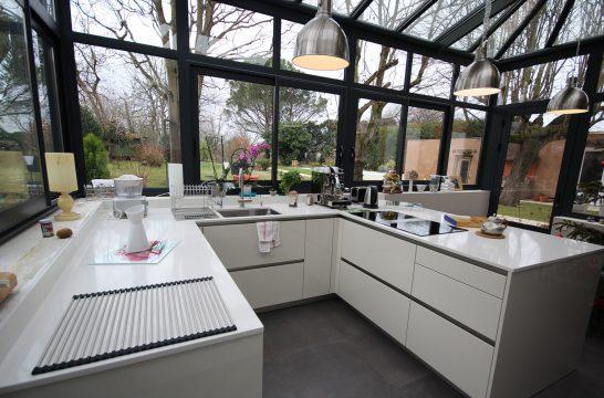 مطبخ في حديقة الشتاء