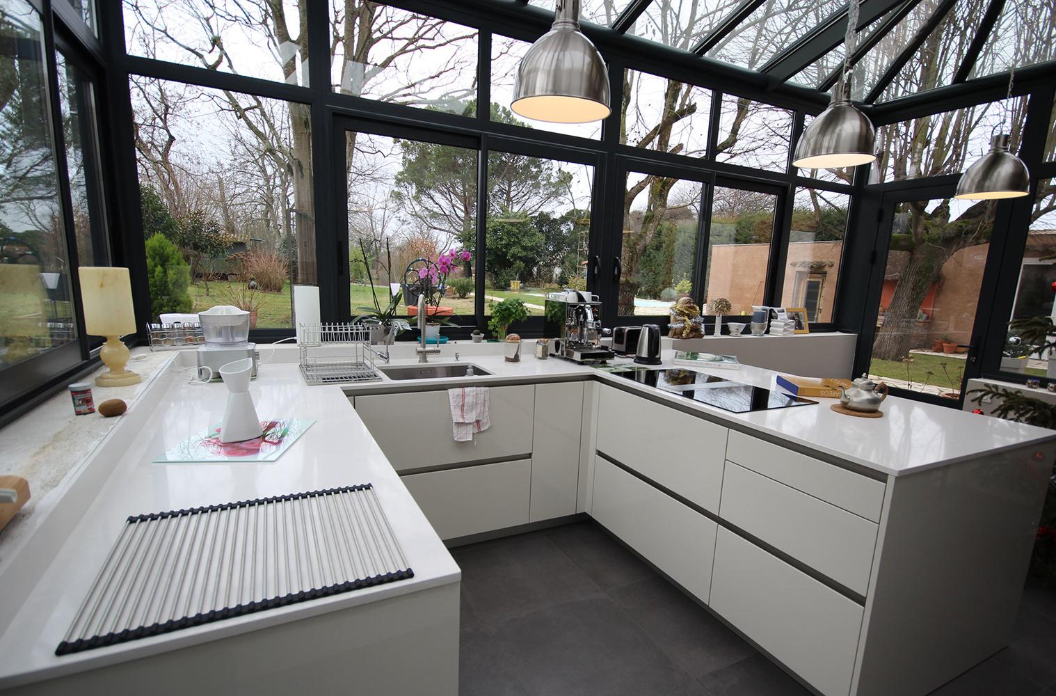 <pre>مطبخ في حديقة الشتاء