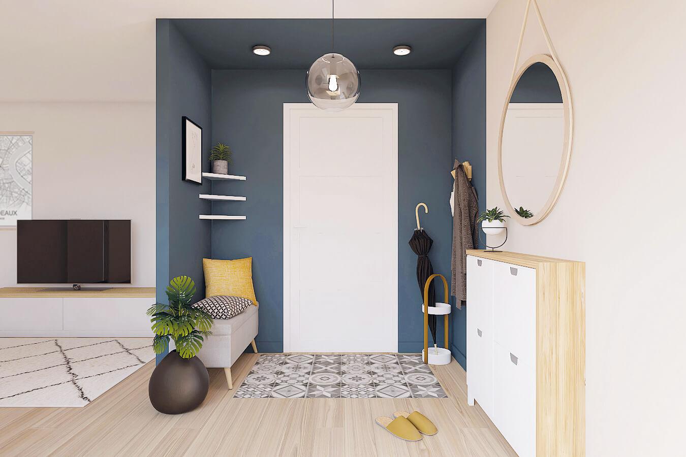 قم بإنشاء مدخل في غرفة المعيشة