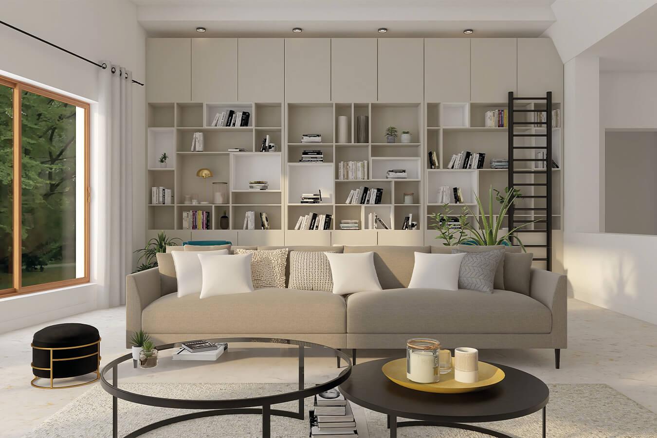 التركيبات الداخلية: غرفة الملابس والمكاتب والتخزين المخصص