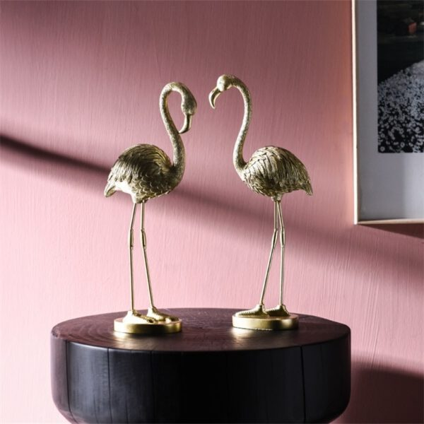 تمثال فلامنغو الذهبي اكسسوارات منزلية