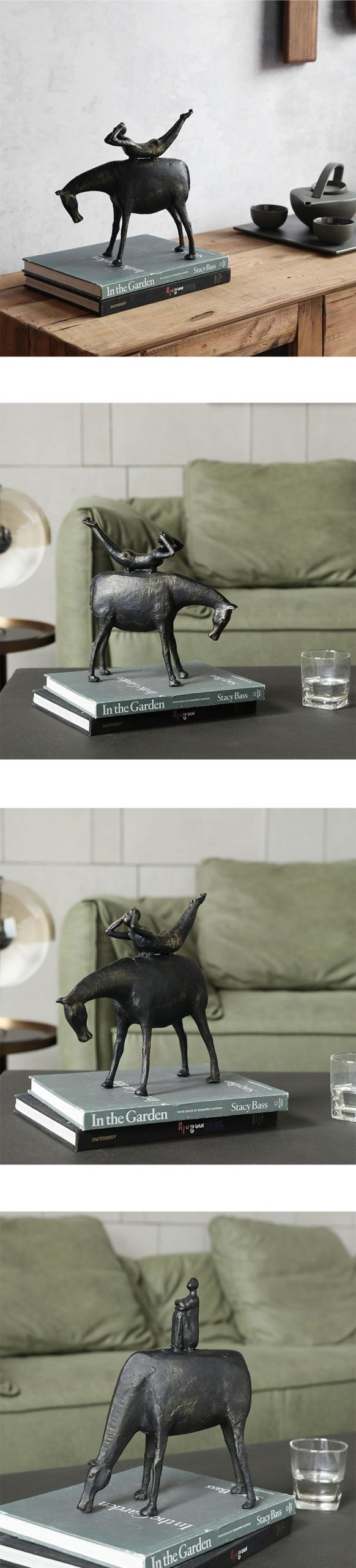 Creative Abstract Figure Sitting In A Daze Statue Decor Home Living Room Office Shop Decorations Animal Statue Adornment Gift