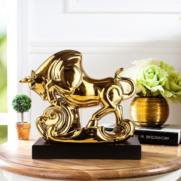 تمثال الثور الفضي الفاخر اكسسوارات اكسسوارات منزلية