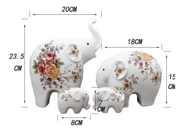 تمثال الفيل السيراميكي المزخرف ديكور و اكسسوارات