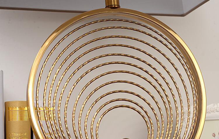 Modern Multi Layer ring Metal Table Lamp For Living Room Contemporary E27 Desk Lamp K9 Crystal Bedside Lamp lampara de mesa