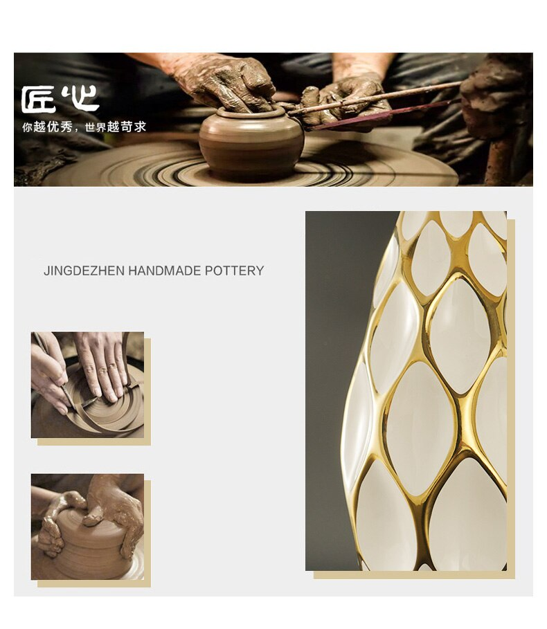 Luxury White Ceramic Blank Space Ceramic Table Lamp Living Room Dimmable Reading Bedroom Bedside Table Light Home Decor Lighting