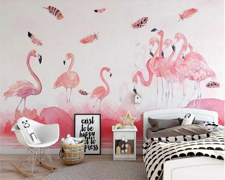 طرق أنيقة لتناسب صورة طائر وردي في غرفة النوم وغرفة المعيشة والحضانة