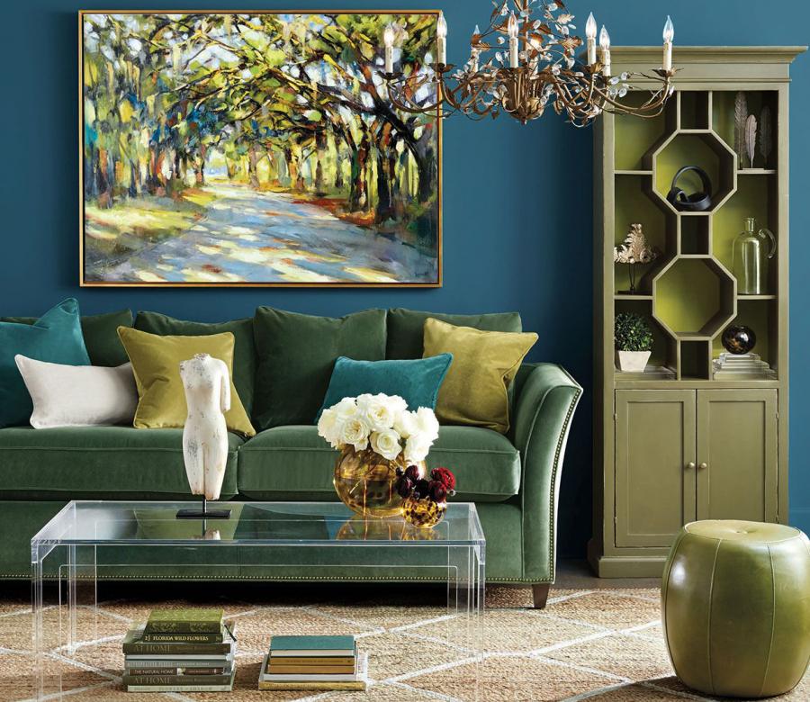أرفف مصممة في الغرف: غرفة المعيشة